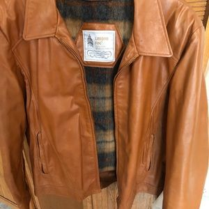 Men's Honey Brown Leather Jacket 44R VClean XNice